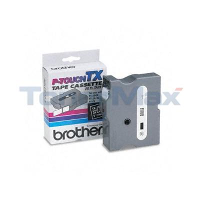 BROTHER P-TOUCH TAPE WHITE/BLACK (24 MM X 15 M)